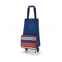 Сумка на колесиках Foldabletrolley, Artist stripes