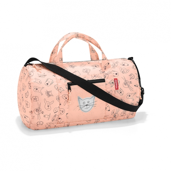 Сумка детская складная Dufflebag Cats and dogs, Rose
