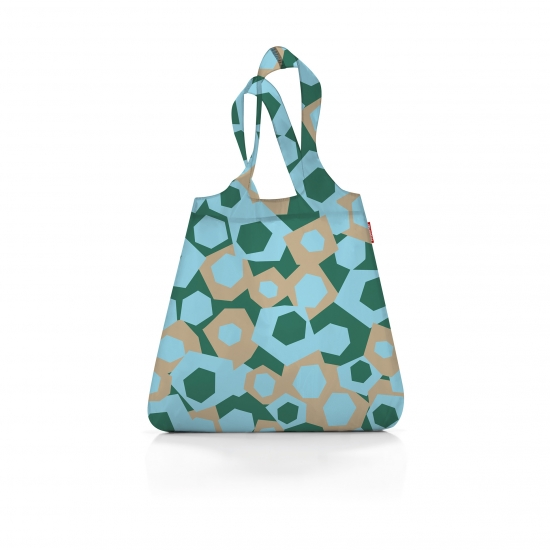 Сумка складная Mini Maxi Shopper, Geometry blue