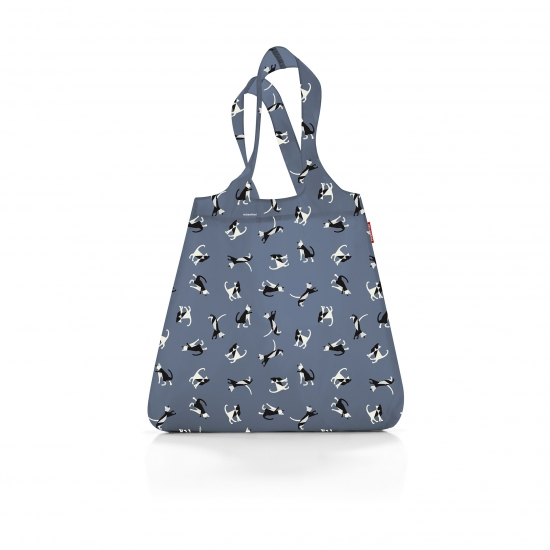 Сумка складная Mini Maxi Shopper, Cats grey