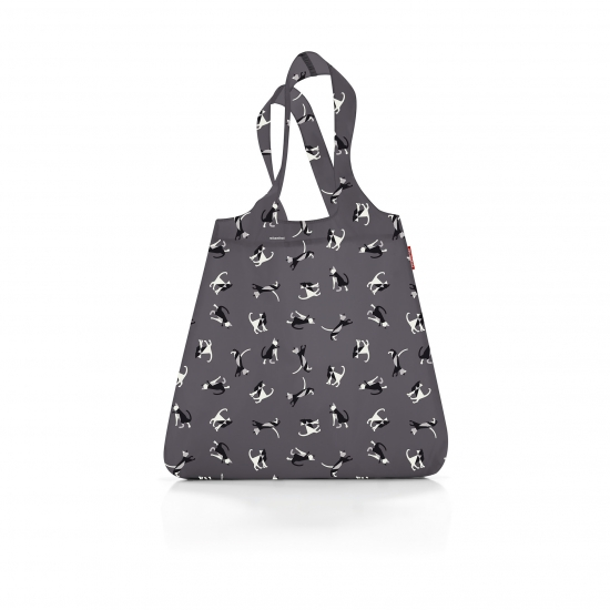 Сумка складная Mini Maxi Shopper, Cats graphite