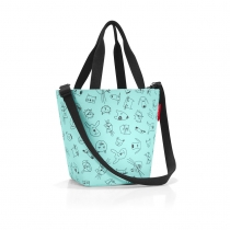Сумка детская Shopper XS, Cats and dogs mint