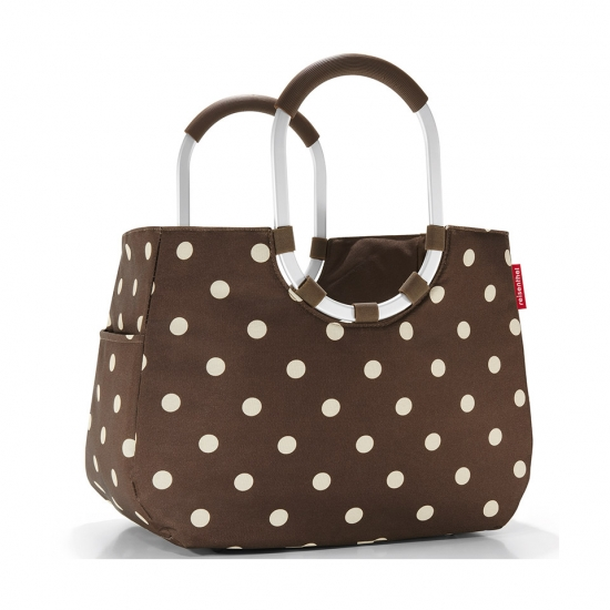 Сумка Loopshopper L, Mocha dots