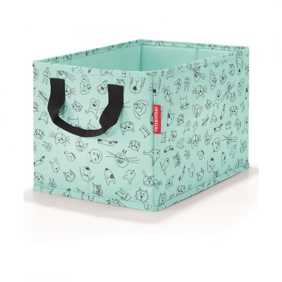 Коробка для хранения детская Storagebox Cats and Dogs Mint