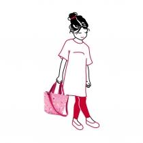 Сумка детская Shopper XS ABC Friends Pink