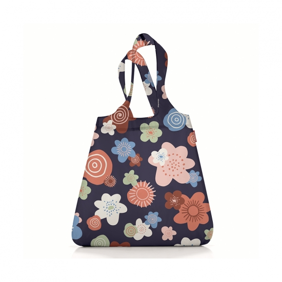 Сумка складная Mini Maxi Shopper Flowers Navy