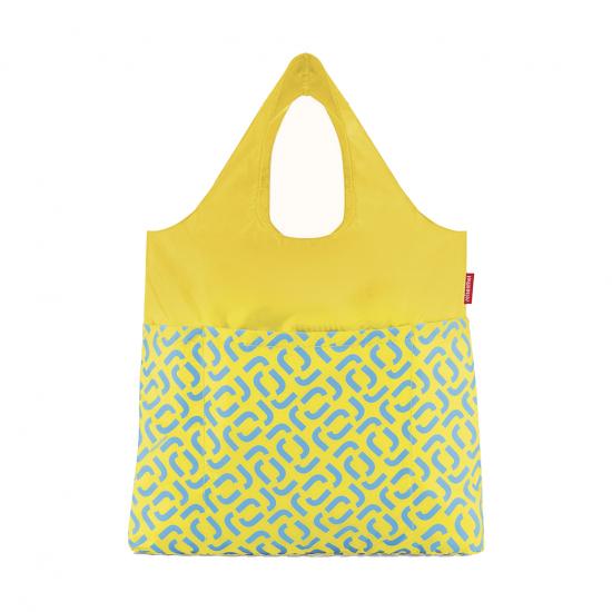 Сумка складная Mini Maxi Shopper Plus Signature Lemon
