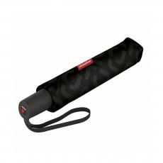 Зонт-автомат Pocket Duomatic Signature Black Hot Print